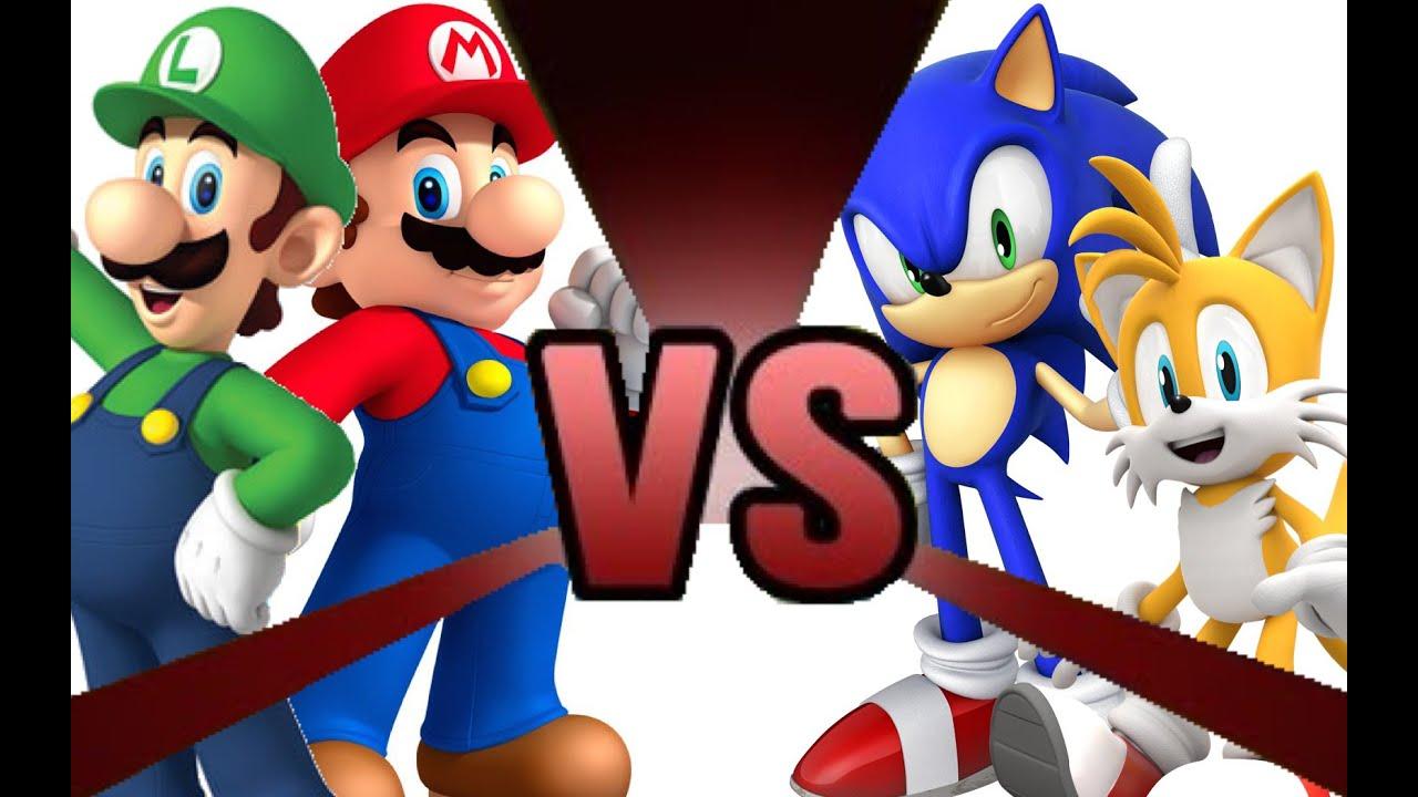 Sonic et Luigi Mario And Luigi vs Sonic And