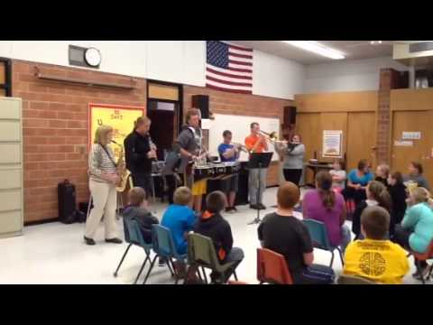 PCM High School Band members play their instruments for the