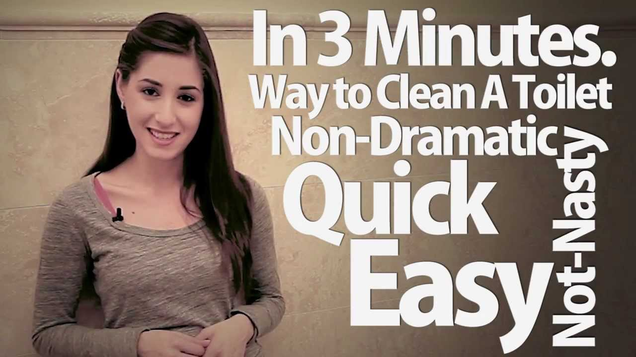 How to clean a toilet in 3 minutes easy bathroom cleaning - What do i need to clean my bathroom ...