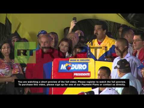 Venezuela: Maduro welcomes election victory with supporters
