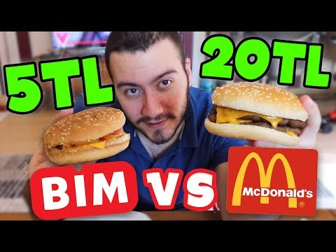 5 TL BİM VS 20 TL MC DONALDS (HAMBURGER)