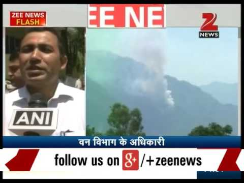 Fire in Mountains of vaishno Devi