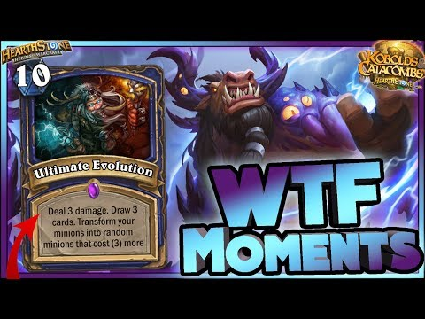 Hearthstone - EVOLUTION Kobolds WTF Moments - Funny and lucky Rng Moments