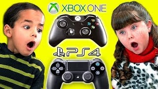 Kids React To XBOX ONE vs. PlayStation 4!