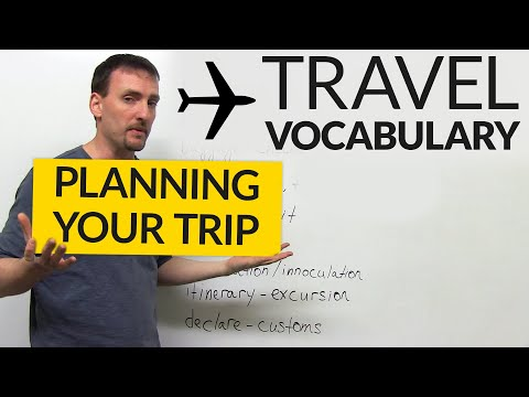 English Travel Vocabulary: Planning a Trip