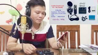 Test Combo Soundcard V8 + Mic BM900 giá sốc 890k