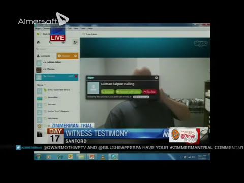 Zimmerman Trial Skype Bombing