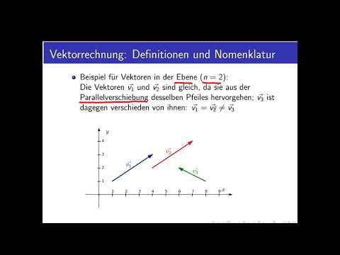 Vektorrechnung Teil 2: Definitionen und Nomenklatur