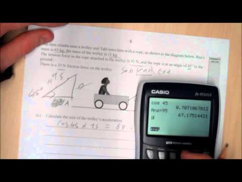 NCEA Physics Mechanics tutorial for 2008 exam paper - part 3