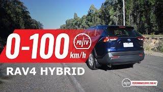 2019 Toyota RAV4 Hybrid 0-100km/h & engine sound