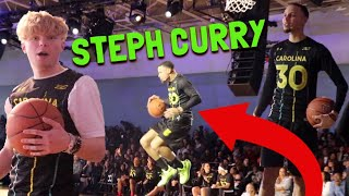 3 PT Shootout VS Steph Curry And His Family!