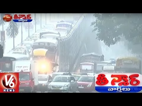 Heavy Rains Lash Mumbai, Road Overbridge Collapses | Teenmaar News