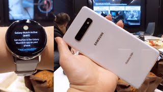 Samsung Galaxy S10 & New Wearables - Hands On Impressions!
