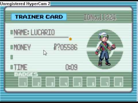 Pokemon Emerald Gameshark codes for VBA