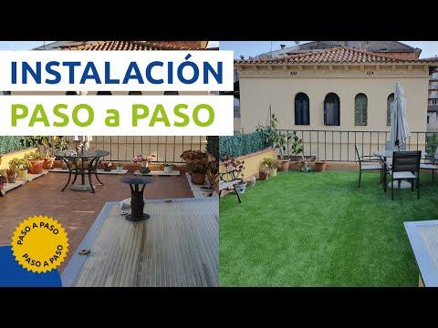 Instalaci n y montaje de jard n con c sped artificial for Colocar adoquines en jardin