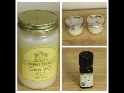 Homemade Natural Deodorant - How to make deodorant at home with coconut oil