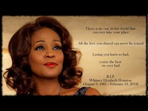 HD Whitney Houston Tribute by R. Kelly - I Look To You