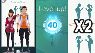 Starting from Level 1 to hit level 40 twice in pokemon go.