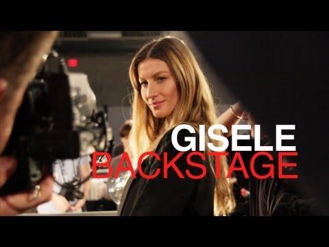 GISELE BACKSTAGE: ALEXANDER WANG FALL 2012 | MODTV