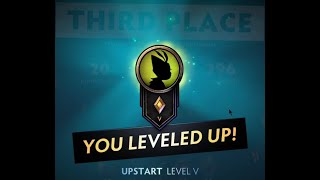 Underlords - Activated 9 Warriors Bonus - 3rd Place - Promoted to Upstart Level V