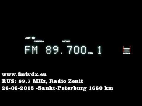 FM DX sporadic E in Holland: Russia 89.7 MHz Radio Zenit