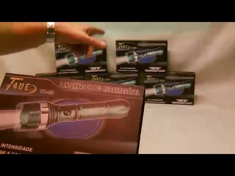 Lanterna Tática Police TD-50 - 9000W x 25000Lumens