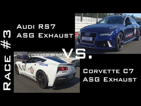 Corvette C7 Stingray vs Audi RS7   Race #3