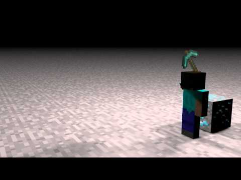 steve is mining some diamonds minecraft animation maked with cinema 4D