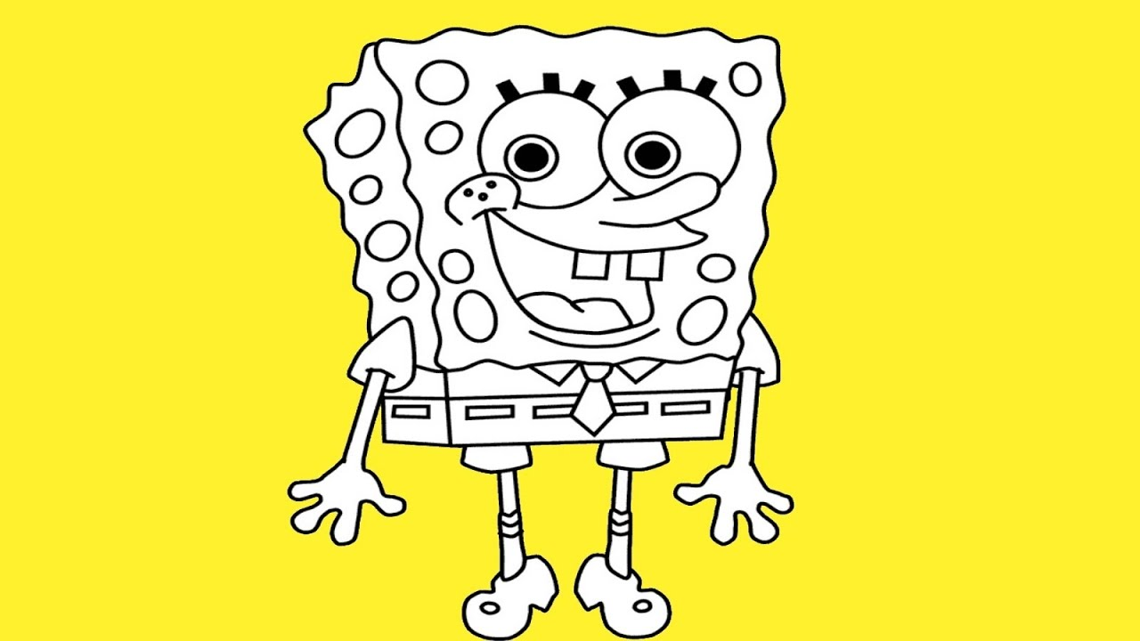 Spongebob drawing in pencil