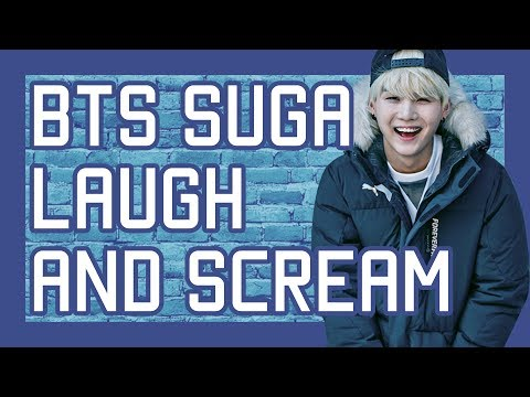 BTS SUGA Screaming and Laughing for 10 Minutes Compilation