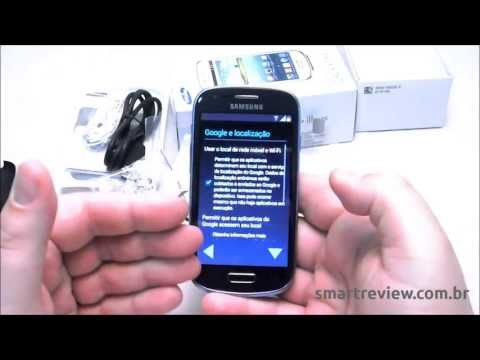 Unboxing do Samsung Galaxy S3 Mini GT-I8190 em português do Brasil