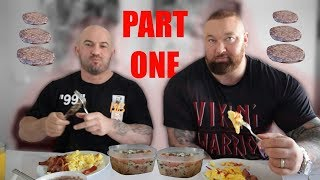 Day of eating! Hafthor Bjornsson + Sebastian Oreb