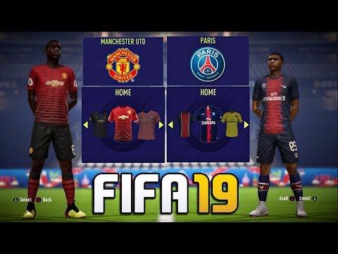 FIFA 19 - New Kits FT. Barcelona , Real madrid , Man Utd , PSG etc