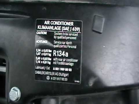 Mercedes Ml  Ac Refrigerant