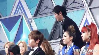 [Fancam] 111229 BEAST Yoseob - Share a chair To B1A4  @ 2011 SBS Gayo Daejun