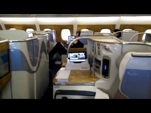 Emirates A380 Business Class inside