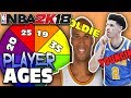 SPIN THE WHEEL OF PLAYER AGES! NBA 2K18 SQUAD BUILDER -