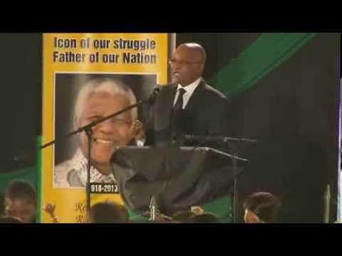 President Zuma leads singing in remembering Nelson Mandela