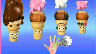 Ice Cream Fingers Family Song  Nursery Rhyme  And More Kids Learning songs.