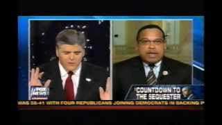Keith Ellison Goes Crazy On Hannity Show