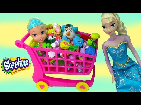 Shopkins Large Shoppin Cart Disney Frozen Queen Elsa Toddler...