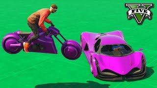GTA V Online: MOTO TRON vs SUPER TRON - TEVE MITADA ÉPICA!!!