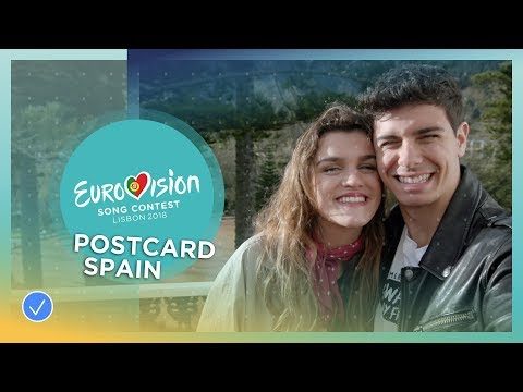 Postcard of Amaia y Alfred from Spain - Eurovision 2018