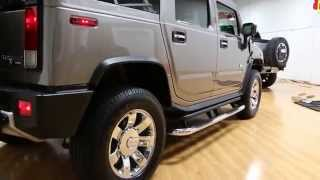 2009 Hummer H2 Luxury For Sale~13,365 Miles~Rare Greystone Metallic & 2nd Row BUCKET SEATS!!