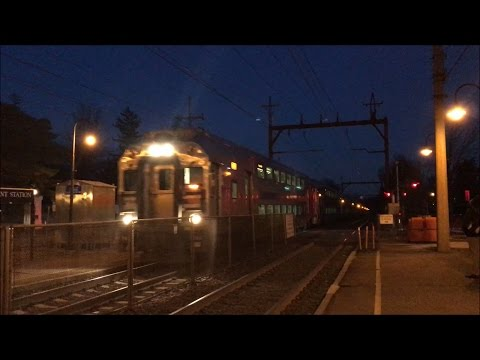 NJ Transit HD 60 FPS: Evening Morristown Line Trains @ Convent Station 2/23/17