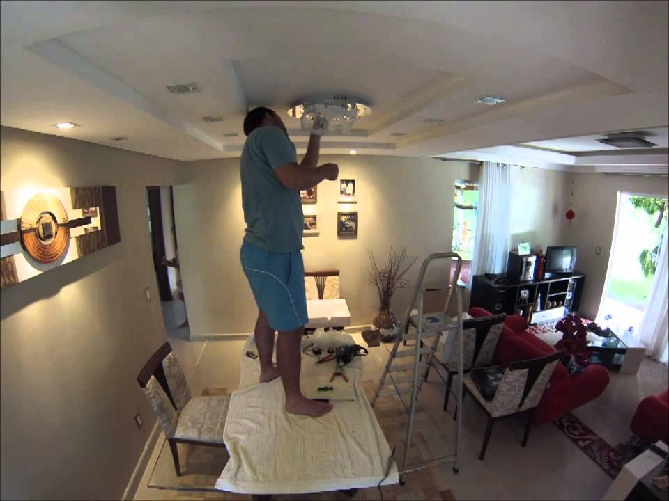 time lapse instala o lustre youtube. Black Bedroom Furniture Sets. Home Design Ideas