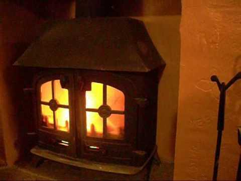 Lighting the wood burning stove