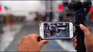 Canon 6D filmando uma Osmo DJI em opera��o