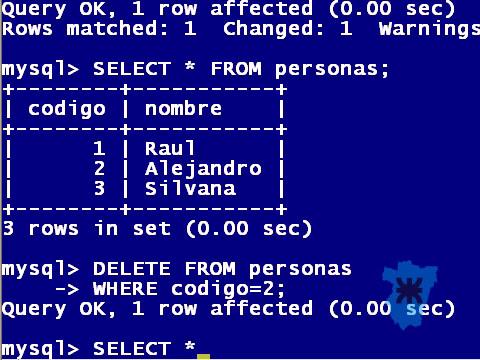 MySQL comandos basicos