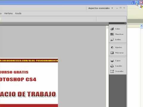 Photoshop - Espacio de trabajo, opciones y configuración básica